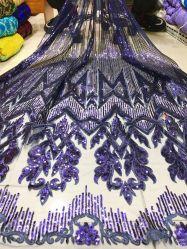 Оптовая торговля новый стиль устраивающих Блестящие цветные лаки Sequin Sequin свадебные платья кружева моды кружева леди кружевом