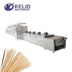 Madeira de bambu Stick palitos secagem microondas e máquina de esterilização
