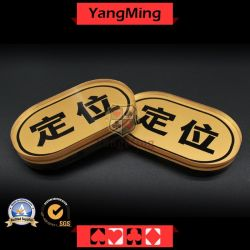 المقامرة طاولة تاجر علامة مصنع موردين الذهب شاشة الحرير زر العلامة التجارية للبطاقات الخاصة بالعلامة التجارية البيضاوية