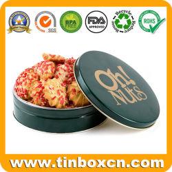 Les écrous de ronde de noël Les cookies peuvent d'étain métal pour les cadeaux de Noël