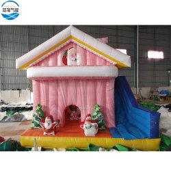 Comercio al por mayor 5x5m de Navidad inflable Gorila/muñeco de nieve de la casa hinchables Combo/Navidad