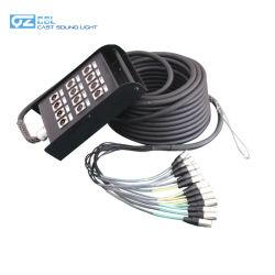 12CH microfone XLR Snake Fase Áudio Cabos Cabo de serpentes do sinal