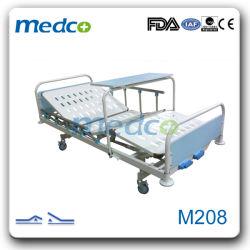 医療用患者家具 MDF 病院用手動ベッド、二重シェイク