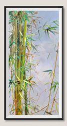Handgemachtes chinesisches Bambussegeltuch-Ölgemälde für Wand-Dekoration