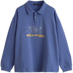 Großverkauf kundenspezifisches beiläufiges loses gedrucktes Polo-Hemd für Frauen