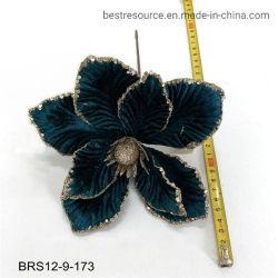 Высокое качество праздник красного Рождество искусственные украшения шелк Poinsettia цветок головки блока цилиндров