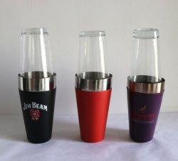 Le dispositif trembleur de boissons de cocktail de 28 onces comprend le dispositif trembleur d'acier inoxydable et la glace claire