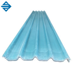 Toit en fibre de verre ondulé vert feuille de plastique transparent pour le Balcon de la bobine de toiture
