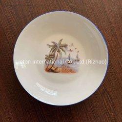 Porzellan-Suppe-Platte 8 Zoll für Gaststätte und täglichen Gebrauch