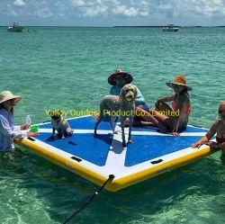 8x8 pés Ilha Flutuante Deck insufláveis Jangada Água Dock
