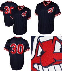 Cleveland Indians Joe Carter Mitchell & Ness Cooperstown auténtica Camiseta de béisbol