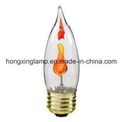 Классические электрические лампочки 3W свечки пламени фликера C32, электрические лампочки свечки пламени фликера высокого качества E14 СИД