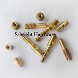 رخيصة مخصصة غير قياسية C36000 مسمار دوران Brass CNC (S-037)