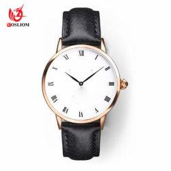 Horloge Van uitstekende kwaliteit #V748 van de Riem van de Band van het Leer van de fabriek het Echte