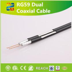 Rg59 75 ohms double câble coaxial de communication standard pour la sortie CATV