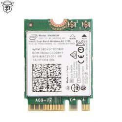 Корпорация Intel 3165 двухдиапазонной Wireless-AC 3165ngw + Bluetooth 4.0 Ngff 802.11AC карты WiFi М. 2 беспроводной сетевой платы