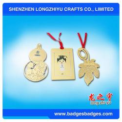 Acabados de ouro de marcadores de metal personalizada