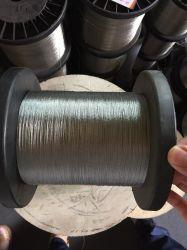 Recubierto de nylon SS 201 304 316 cuerdas de alambre de acero de 0,8 mm de 7X7 de la línea de luz