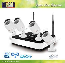 960p HD DVR Kit sans fil WiFi 2.4G 4CH IP Kit de système de caméra de vidéosurveillance NVR