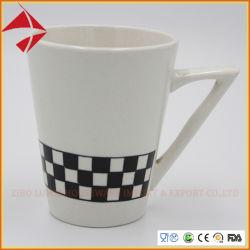 Commerce de gros autocollant Forme personnalisée en vrac imprimés tasse à café en céramique/porcelaine mug/jeu de tasse de café