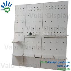 حامل شاشة معدنية على الحائط، حائط منزلق، وحدة حائطية، وحدة حائط مشقوق مع رفوف لمتجر البيع بالتجزئة