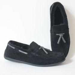 A nova fábrica de Design Personalizado de atacado de forma casual e confortável Moccasin-Gommino Sola macia para Lazy Pessoa Homem sapatos de camurça