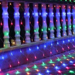 220V Wasserdichte Weihnachten im Freien große Dreieck Fee RGB LED Angeln Netzbeleuchtung