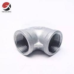 Moe Directa de Fábrica de Fundición maleable 1/8 Codo de 90 grados de carbono Accesorios de tubería de acero inoxidable