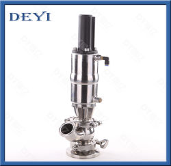 DIN Sanitary Pneumatic 탱크 하단 밸브(PTFE 개스킷 포함)