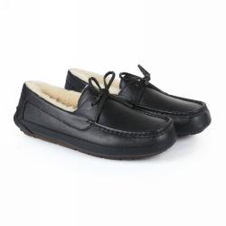 Parte superior em pele macia de moda Piscina Piscina Moccasin Loafer Odres Calçados chinelos casual para homens Austrália