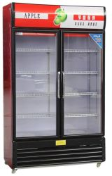 O coque de supermercados Refrigerador de Bebidas Porta de vidro Exibir freezer