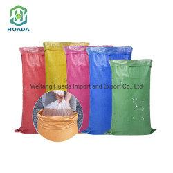 중국 공장 싼 가격 도매에 의하여 재생되는 주문 색깔 50kg에 의하여 이용되는 PP에 의하여 길쌈되는 부대 식품 포장 부대