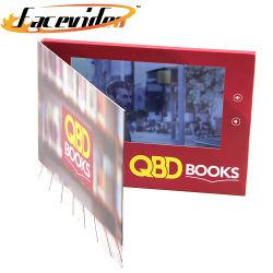Novo Design de Produto 7 polegadas LCD de Alta Luminosidade Imprimir a brochura vídeo tampa rígida electrónicas Catálogo de vídeo para a exposição Dom