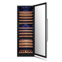 Трехзонная двери нержавеющая сталь вина охладитель/холодильник для вина и винный погреб