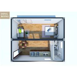 Предварительно Fab транспортировочный контейнер дом роскоши 4 кровати зал