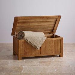Vintage de madera maciza de roble rústico Manto de la caja de almacenamiento