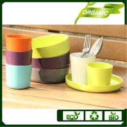 Dîner chaud vendre bol/cuvette/plaque de bambou écologique/bras de fourche