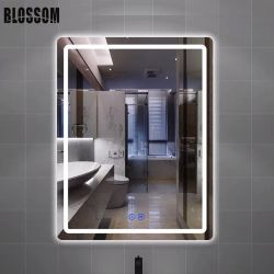 De Spiegel van het in het groot Moderne LEIDENE van het Glas Meubilair van de Badkamers met Backlit Lichten