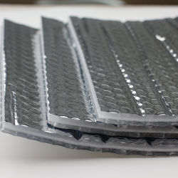 Lámina de aluminio burbujas de aire respaldado el aislamiento térmico de material térmico Raidant Barrie