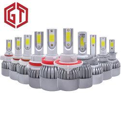 공장 도매 저가 C6 S2 S1 H1 H4 H3 H7 H11 9005 9006 9007 9004 880 5202의 유니버설 차 LED 헤드라이트