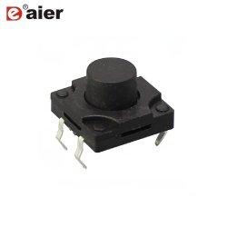 Пластиковый черный 4Контакт 12X12 нажмите кнопку Micro водонепроницаемый на ощупь выключатель