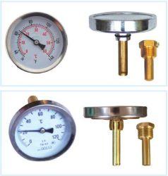 Термометр для горячей воды из нержавеющей стали, NPT, Bsp связи указатель
