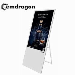 Micro Kiosk LCD portátil Digital Signage 32 polegadas LCD Leitor de publicidade para promoção de Publicidade publicidade comercial de sinalização digital LCD