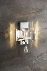 Cristal clair mur décoratif de la lumière avec douille G9 pour le projet d'hôtel-11892 (MO)