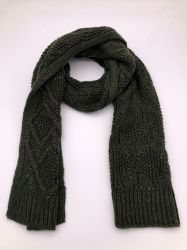 OEM индивидуальные акриловый трикотажные шарфы производителя