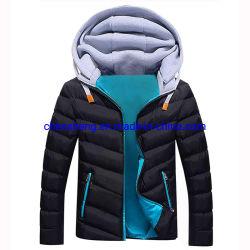최신 맞춤형 로고 남성용 재킷은 Red Hat Winter Candy와 함께 제공됩니다 컬러하고 따뜻한 파카 패션 코튼 캐주얼 아웃웨어 다운 재킷