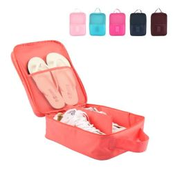 حقيبة حذاء محمول للسفر، بوليستر، سعة تخزين مزدوجة الطبقات مقاومة للماء مع Zipper