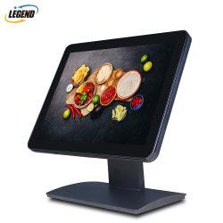شاشة لمس مقاس 15 بوصة شاشة عرض LED بشاشة عرض LCD مع حامل معدني HDMI VGA
