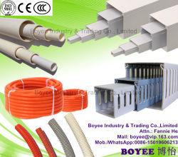 Câble en PVC PVC Capot de conduits de câblage de l'agrégation de conduits de câblage souple en plastique gris conduit de câblage