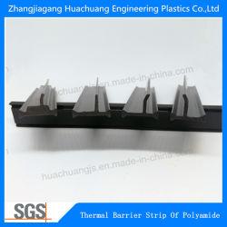T l'Extrusion en polyamide de forme de barrière thermique de la béquille en nylon